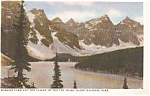 Click here to enlarge image and see more about item p0787: Moraine Lake Banff National Park Postcard