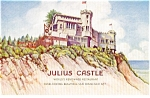 Click here to enlarge image and see more about item p0799: Julius Castle San Francisco CA Postcard p0799