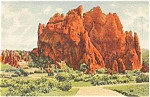 Click here to enlarge image and see more about item p0816: Garden of the Gods Colorado Postcard p0816