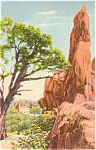Click here to enlarge image and see more about item p0817: Garden of the Gods CO Postcard p0817