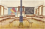 Interior Camp School Valley Forge PA Postcard