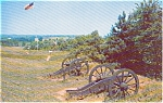 Click here to enlarge image and see more about item p0837: Ft Washington   Valley Forge PA Canons Postcard p0837