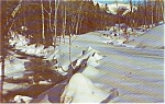 Morrisville PA Winter Stream Postcard p0872