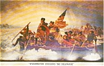 Click here to enlarge image and see more about item p0881: Washington Crossing the Delaware Postcard p0881