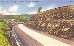 Highway Scene Fayette County GA Postcard