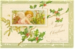 Christmas Child Angel  Postcard Germany Undivided Back