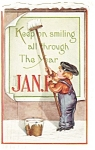 Click here to enlarge image and see more about item p10042: New Years Postcard 1919