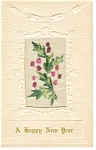 Click here to enlarge image and see more about item p10043: New Years Postcard 1920 Embroidery Insert