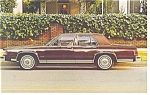 Click here to enlarge image and see more about item p10052: 1984 Mercury Grand Marquis Postcard