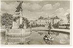 Click here to enlarge image and see more about item p10073: Sweden Postcard of Statue and Building