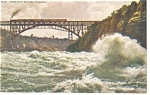 Niagara Falls NY The Whirlpool Rapids Postcard p10100