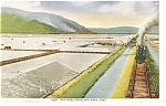 Great Salt Lake,UT, Salt Beds Steam Train Postcard