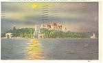 Boldt Castle Heart island by Moonlight Postcard p10141 1938