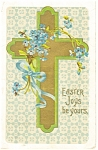 Click here to enlarge image and see more about item p10159: Easter Cross Vintage Postcard p10159