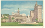City Hall New York City NY Linen Postcard p10168