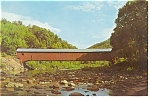 Click here to enlarge image and see more about item p10188: Forksville PA Old Covered Bridge  Postcard p10188