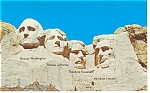 Click here to enlarge image and see more about item p10201: Mt Rushmore, SD Postcard