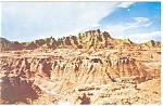 Click here to enlarge image and see more about item p10203: The Badlands of South Dakota Postcard
