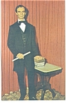 Click here to enlarge image and see more about item p10226: The Springfield Abraham Lincoln Postcard
