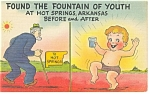 Found the Fountain of Youth Comical Postcard p10230