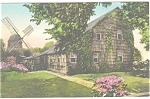 East Hampton NY Old Windmill Hand Colored Postcard p10265