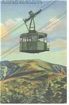 Click here to enlarge image and see more about item p10273: Cannon Moutain Aerial Tramway Linen Postcard