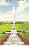 Valley Forge ,PA, Waterman Monument Postcard