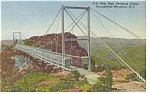 Grandfather Mountain NC Swinging Bridge Postcard p10293