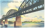 Click here to enlarge image and see more about item p10297: St Louis MO General Macarthur Bridge Postcard p10297