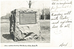 Wilkes Barre, PA ,Stone on Site of Fort Durkee Postcard