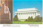 Lincoln Memorial Washington DC Postcard p10325