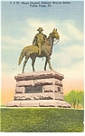 Valley Forge PA Anthony Wayne Statute Postcard p10414