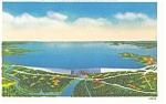 Lake Murray SC and Saluda Dam Postcard p10422