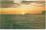 Click here to enlarge image and see more about item p10450: Sunset over Prince Rupert Harbour BC Canada Postcard p10450