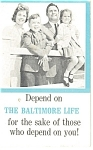 Click here to enlarge image and see more about item p10476a: Baltimore Life Advertising Memo Booklet