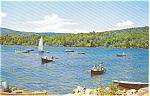 Lake Scene Sail Boat Morrisville PA  Postcar