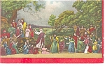 Click here to enlarge image and see more about item p10490: Ober Ammergau Germany Passion Play The Manna Postcard p10490