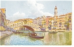Venice, Italy Gondola on the Canal Postcard