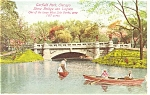 Click here to enlarge image and see more about item p10501: Chicago, IL, Garfield Park Lagoon Postcard 1911
