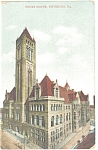 Pittsburgh PA Court House Postcard p10510