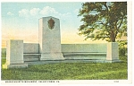 Valley Forge,PA, Massachusetts Monument  Postcard