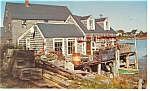 Click here to enlarge image and see more about item p10539: A Maine Fisherman's Shack Postcard