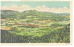 Manchester,VT, Valley from Prospect Rock Postcard