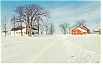 A Vermont Farm in Winter Postcard