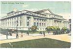 New York NY Public Library  Postcard p10629 1912