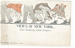 Click here to enlarge image and see more about item p10641: New York NY Broadway Earth Scrapers Postcard p10641 1912