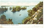 Thousand Islands,NY, Picturesque America Postcard 1907