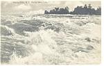 Niagara Falls, NY, Rapids Above Falls Postcard 1908