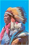 Click here to enlarge image and see more about item p1066: Apache Indian in War Bonnet  Postcard p1066