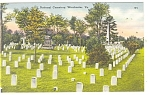 Click here to enlarge image and see more about item p10699: Winchester VA National Cemetery Postcard p10699
